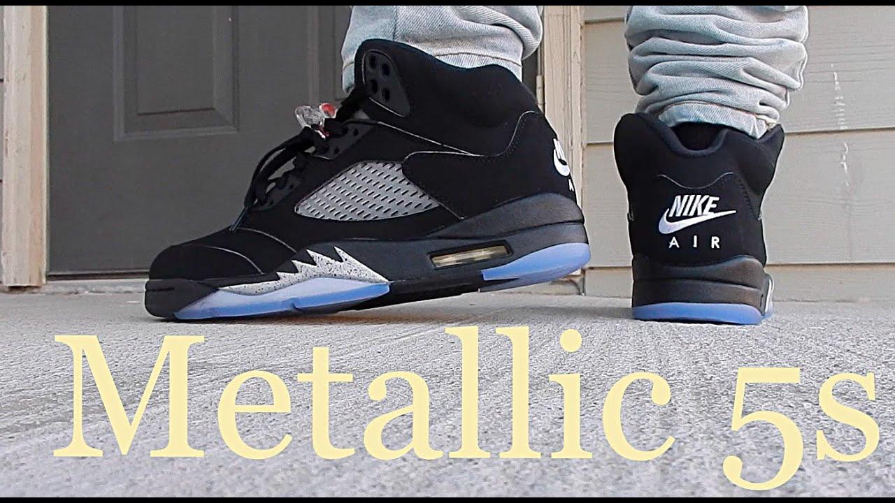 best sneakers ec4c4 8658a coupon code for air jordan 5 black metallic silver celebrity ...