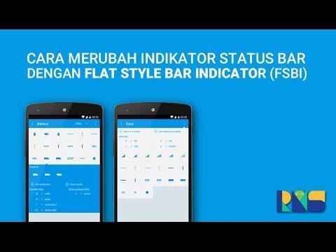 Cara Merubah Icon (Indikator) Status Bar dengan FSBI (Modules Xposed)