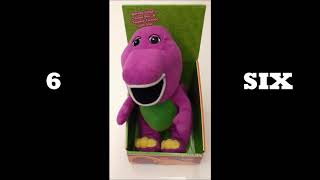 BARNEY Plush Toy Singing Twinkle, Twinkle Little Star! Learn numbers 1 - 10! (Repeat 10x)
