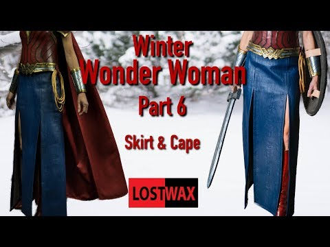 DIY Wonder Woman Cosplay Part 6 / Making The Skirt and Cape