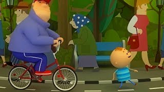 Аркадий Паровозов спешит на помощь - Почему опасно ходить по велосипедной дорожке - мультфильм детям