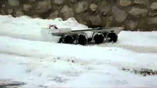 RC 1:10 BTR-80 Chassis First Test Run