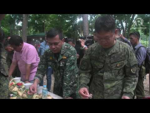 Lorenzana, Año lead boodle fight with troops in Marawi