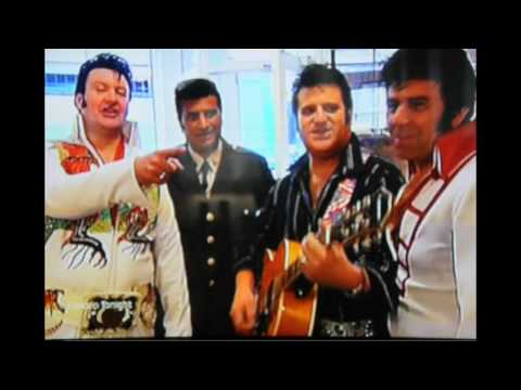 Elvis Shmelvis And Friends On ITV News At The Closing Of The Elvis Shop In London