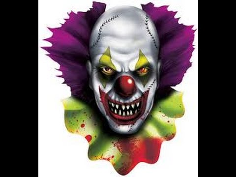 Evil clown laughing sound effect creepy laugh fadading in the background