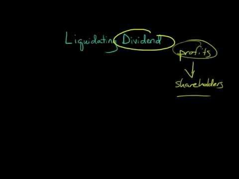 Liquidating Dividend
