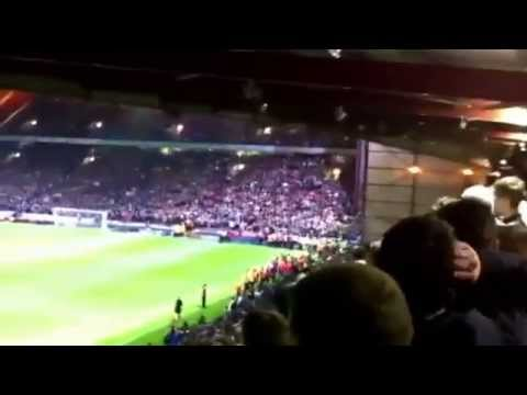 Leeds fans throwing chairs and chanting at David Hockaday - 27/08/14