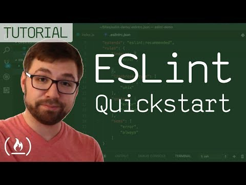 ESLint Quickstart - find errors automatically - YouTube