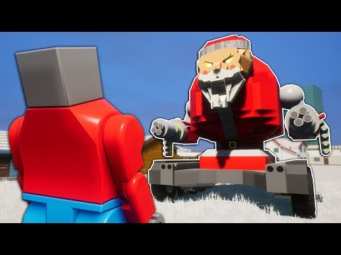 Lego Santa Tank Survival! - Brick Rigs Multiplayer Funny Moments |