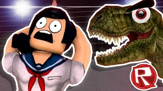 YANDERE CHASED BY TREX - Roblox