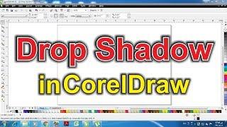 Learn CorelDraw in hindi tutorial 22 drop shadow tool  in coreldraw