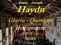 Joseph haydn heiligmesse mass in b flat major hob xxii 10 2d gloria score mp3