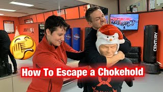 Last week we talked about using Krav Maga to escape a grab from behind. Now we're covering exactly how to escape a choke hold and how it works. Want to ...