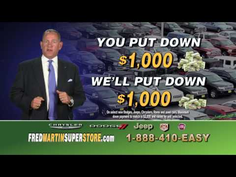 Fred Martin Superstore's Double Your Down Payment Sale - Used 1