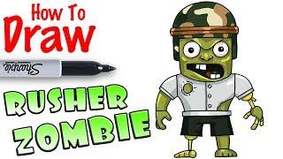 Wie man Rusher Zombie zeichnet | Roblox