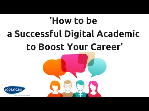 'How to be a Successful Digital Academic to Boost Your Career' - #jobsQ Live G+ Hangout: