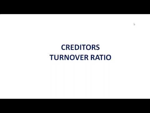 8. Creditors Turnover Ratio