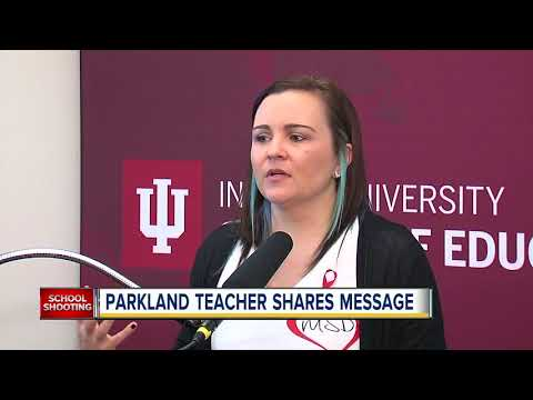 Parkland teacher shares message to college students studying to be teachers