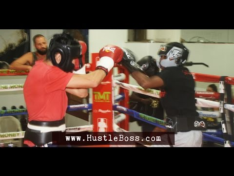 Sparring at the Mayweather Boxing Club: Oktay Takalak vs. Roscoe Aaron Hill