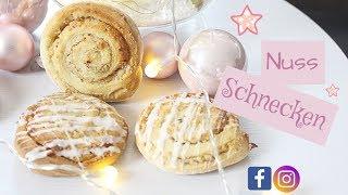 Hefe Nuss Schnecken 1# - schnell und einfach - BACKLOUNGE Rezept - Meine Weihnachtsbäckerei Rezept