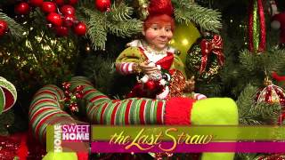 Home Sweet Home TV show interviews Roberta from The Last Straw in Wichita Falls on Christmas Tree decorating ideas including