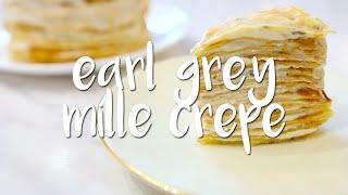 Earl Grey Mille Crepe Cake  Peachy Bunny Bakes