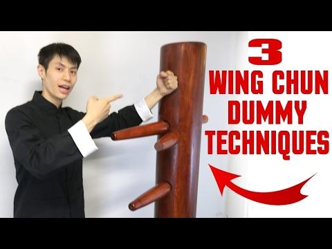 3 Wing Chun Dummy Techniques for Beginners - Mook Jong