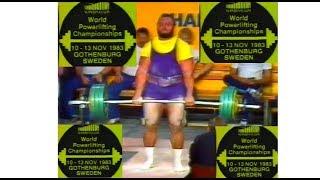 IPF World 1983 Men 39 s Powerlifting WORLD CHAMPIONSHIPS