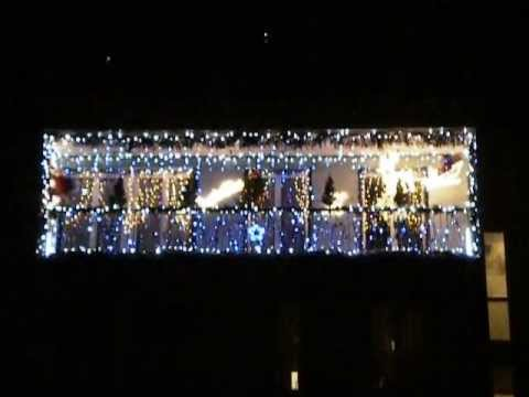 D coration de no l balcon 2012 youtube for Youtube decoration de noel