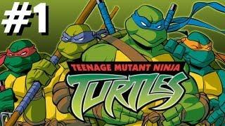 Teenage mutant ninja turtles konami playthrough xbox gamecube ps2 pc 2004 HD PART 1