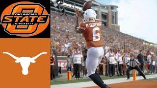 Oklahoma State vs #12 Texas Highlights | NCAAF Week 4 | College Football Highlights
