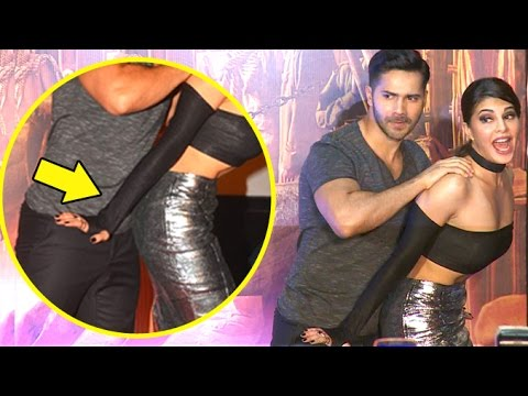 OMG! What Is Varun Doing To Jacqueline Fernandez In Public?
