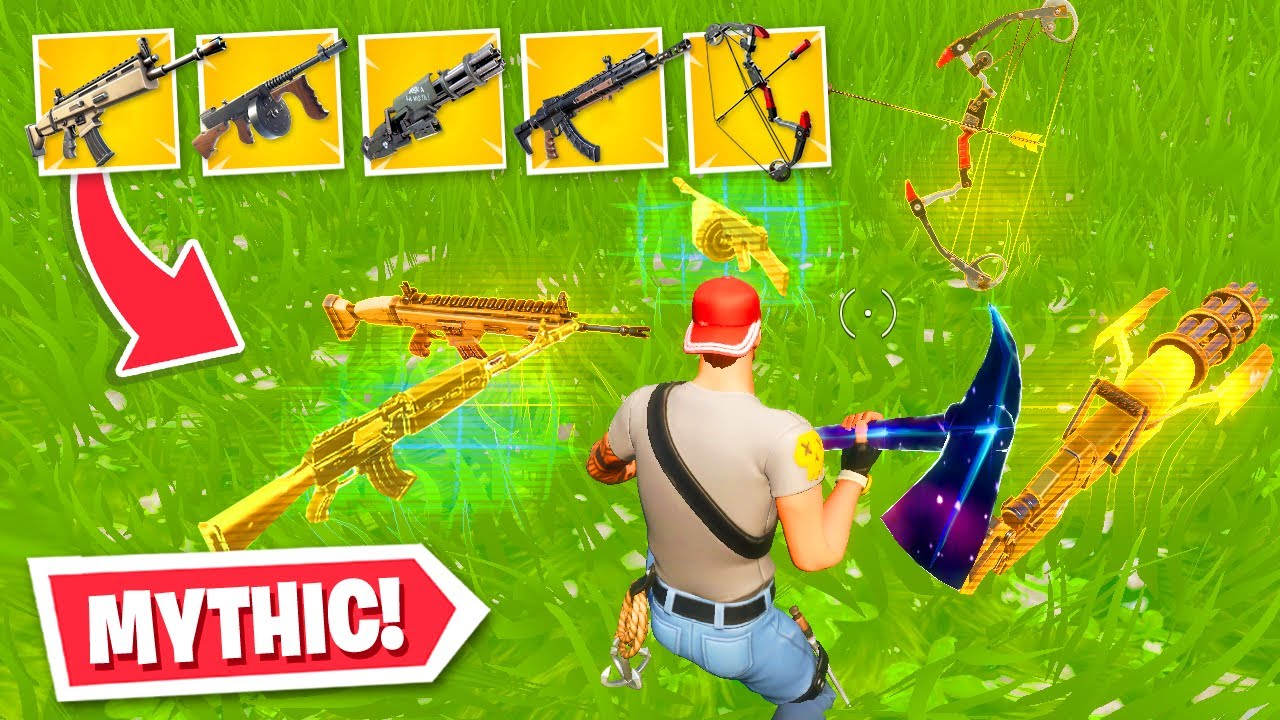 I got *ALL* MYTHIC weapons in ONE game...! (Fortnite Chapter 2 Season 2) thumbnail