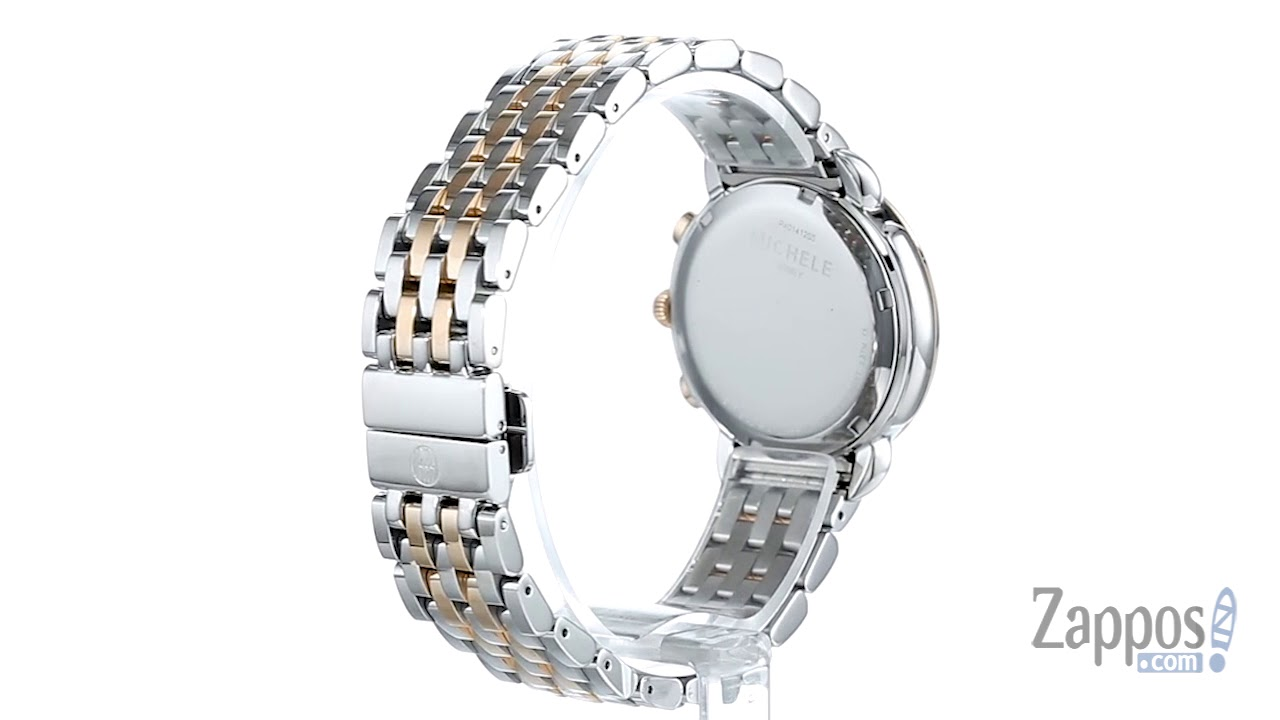 0ccdc5d34 Michele Sidney Diamond Bezel Two-Tone Stainless Steel Watch SKU: 9002750