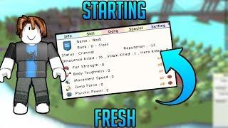 Starting Fresh | Super Power Training Simulator | SPTS Start Over | Roblox |