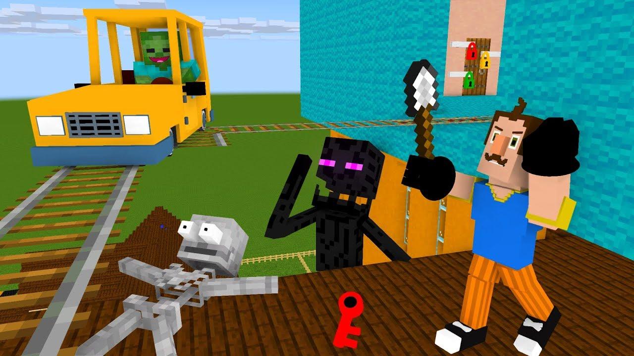 Monster School : SECRET NEIGHBOR Part 2 - Minecraft ...