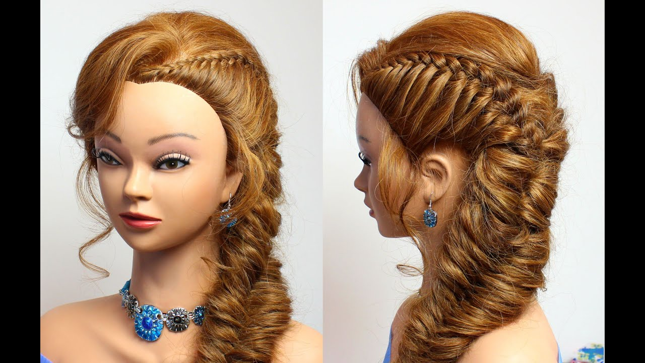 Elegant Hairstyle For Party. Medium Long Hair Tutorial   YouTube