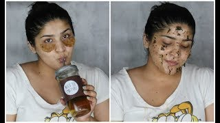 DIY Spa Day | Green Tea Hair Oil, Under Eye Patches. Drink, Mask & Lip Plumper | #DIYWeek