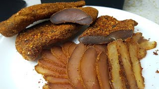 Бастурма куриная,цыганка готовит. Вяленое куриное мясо. Gipsy cuisine.