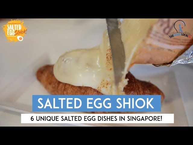6 Unique Salted Egg Dishes in Singapore!