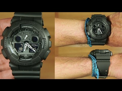 949ecd05362 Casio G-shock GA-100-1A1  ALL BLACK - UNBOXING + LIGHT DEMO - YouTube