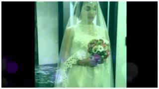 Сати Казанова в образе невесты