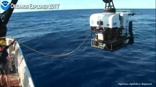 Okeanos 2017 02 ROV Deep Discoverer перед погружением Утро Sunny morning and D2 before diving