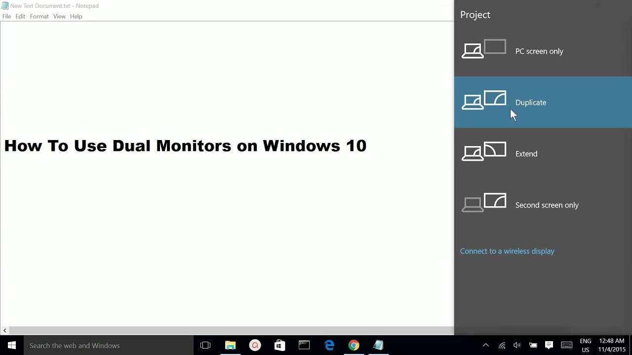 How To Use Dual Monitors on Windows 10 - YouTube