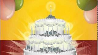 Happy Birthday To You Video w Cake Happy Birthday Cards Wishes