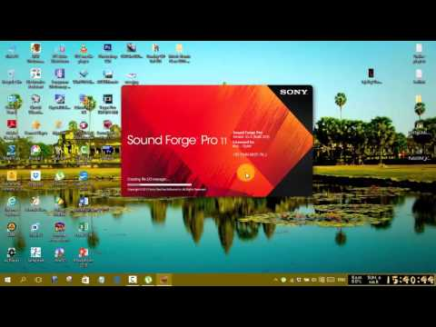 How to remove voice with Sony sound forge pro 11.0