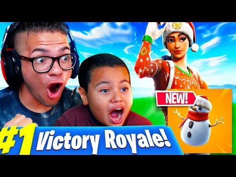 *NEW* SNOWMAN ITEM GAMEPLAY IN FORTNITE BATTLE ROYALE! LITTLE KID GETS 17 KILLS USING IT! (FUNNY)