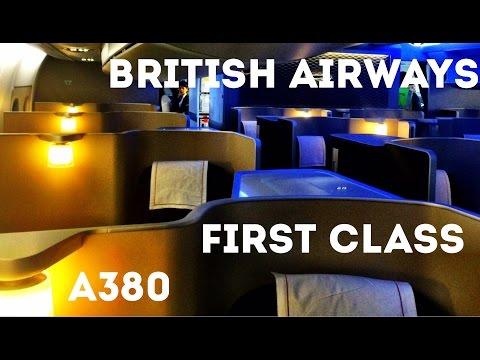 BRITISH AIRWAYS FIRST CLASS FLIGHT, A380 - London Heathrow to San Francisco. The trip report!
