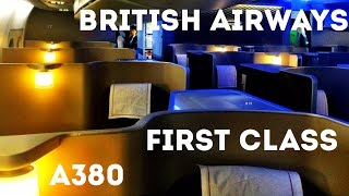 BRITISH AIRWAYS FIRST CLASS FLIGHT, A380 - London Heathrow to San Francisco. The trip report!