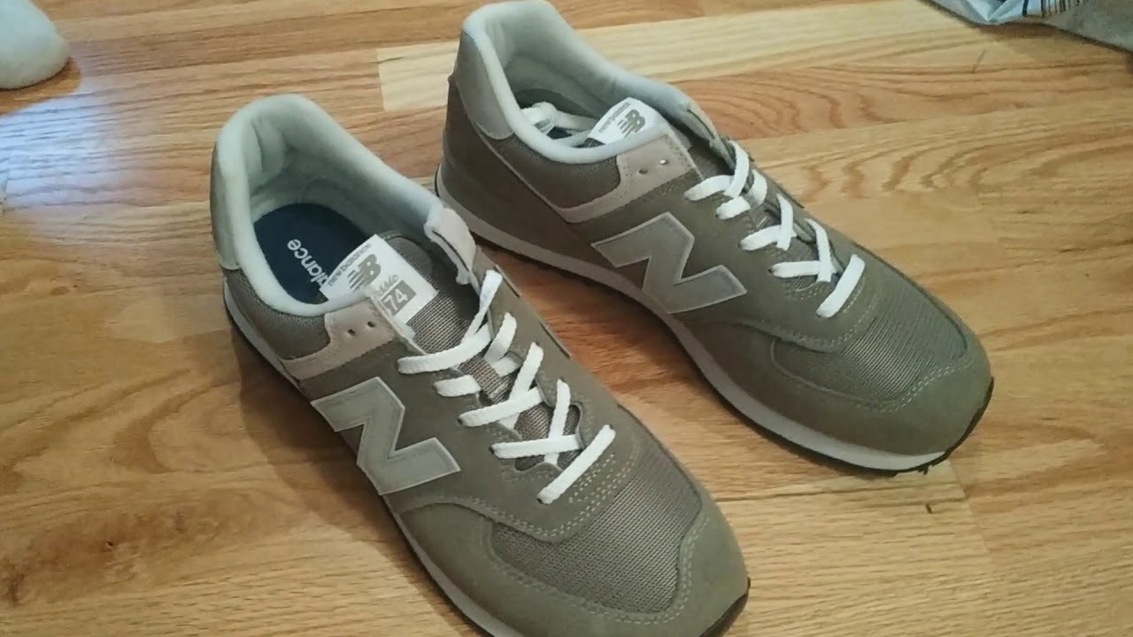 New Balance 574 Grey Unboxing On Foot ML574EGG